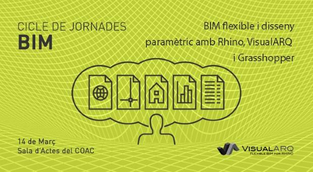 """Presentación """"BIM Flexible y diseño paramétrico con Rhino, VisualARQ y Grasshopper"""" en el COAC de Barcelona"""