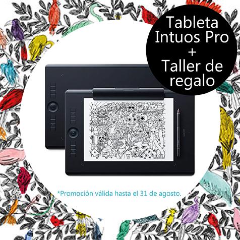 Taller de diseño gratis por la compra de Wacom IntuosPro M