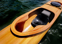 A racing kayak close up