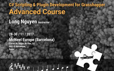 C# Scripting and Plugin Development for Grasshopper Workshop – Nov 28-30, McNeel Europe (Barcelona)