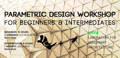 Parametric Design Workshops at LAVA (Laboratory for Visionary Architecture – Berlin) Nov 2018