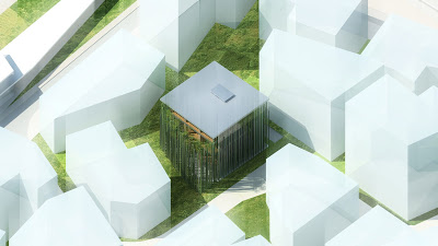 Bamboo Office, winner project at the International Design Building Competition in China
