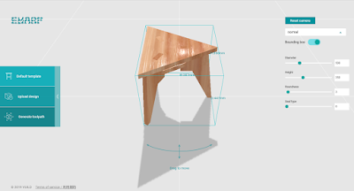 Emarf – A new furniture design service that uses Grasshopper to create customizable templates