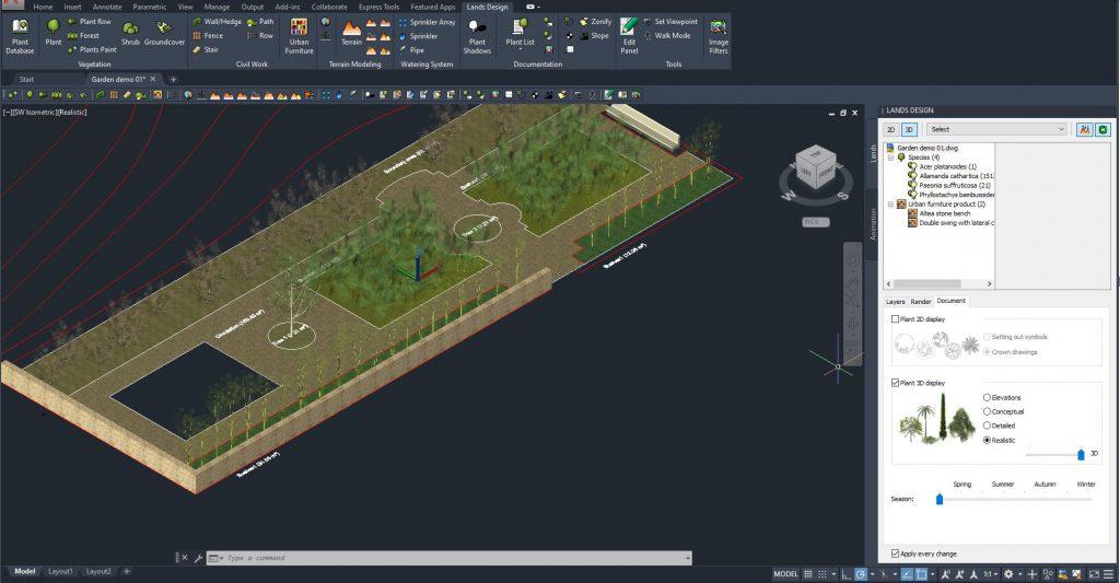 Lands Design está disponible para AutoCAD 2021