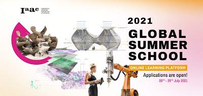 IAAC Global Summer School 2021 – Online Workshops – Applications Open! // 5th – 29th July 2021