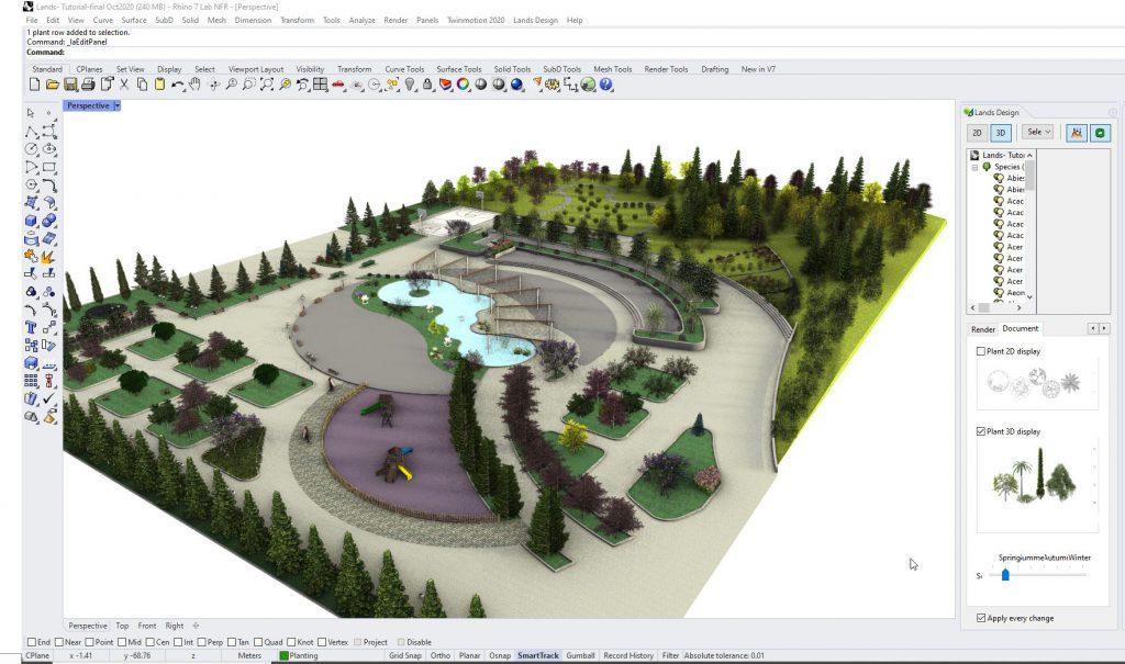 Lands Design para Rhino 7