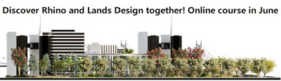 Nuevo taller online para arquitectos paisajistas: Rhino + Lands Design (junio 2021)