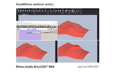 food4Rhino webinar: Rhino.Inside BricsCAD® BIM – July 29 at 5 PM CEST