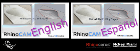 RhinoCAM Online course in English or Spanish