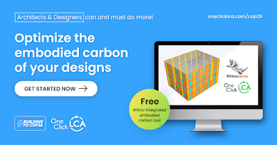 One Click LCA for COP26 – free for Rhino users until the end of 2021